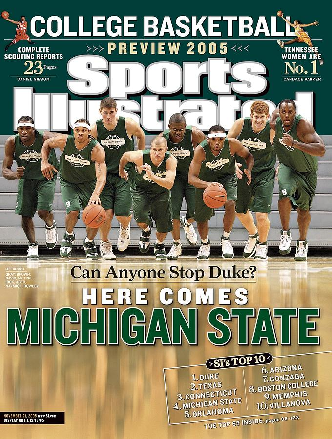 Michigan State University Basketball Team Sports Illustrated Cover Photograph by Sports Illustrated