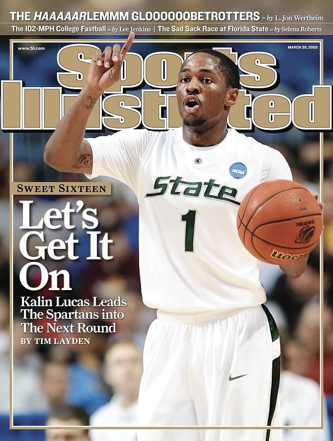 Michigan State University Kalin Lucas, 2009 Ncaa Midwest Sports Illustrated Cover Photograph by Sports Illustrated