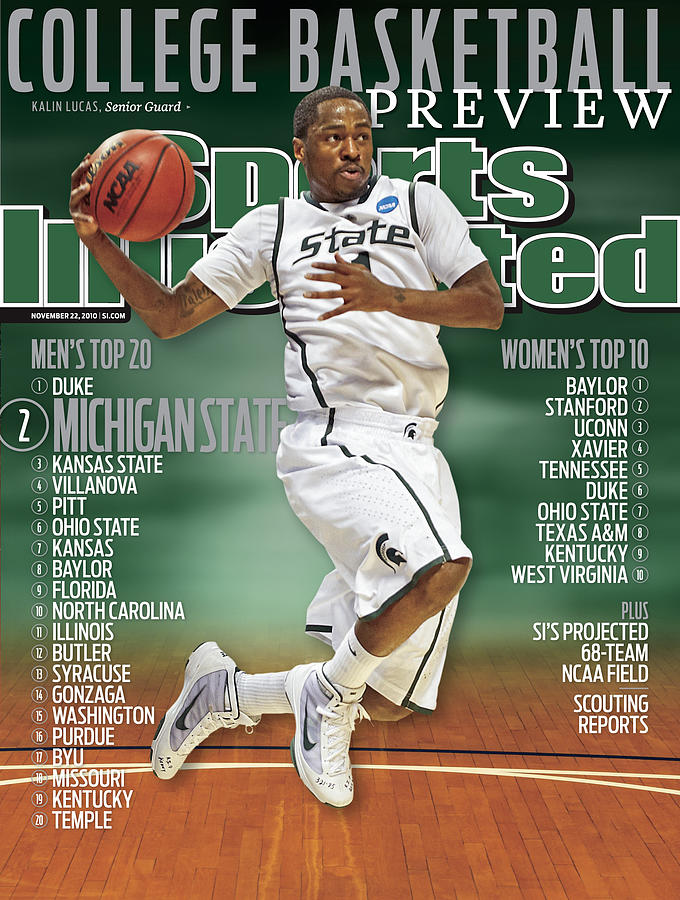 Michigan State University Kalin Lucas, 2010 College Sports Illustrated Cover Photograph by Sports Illustrated