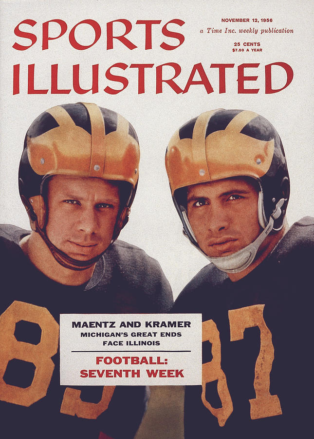 Michigan Tom Maentz And Ron Kramer Sports Illustrated Cover Photograph by Sports Illustrated