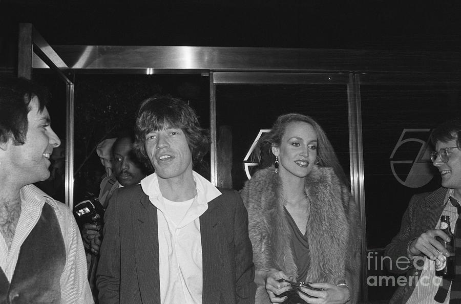Mick Jagger And Jerry Hall At Studio 54 Photograph by Bettmann