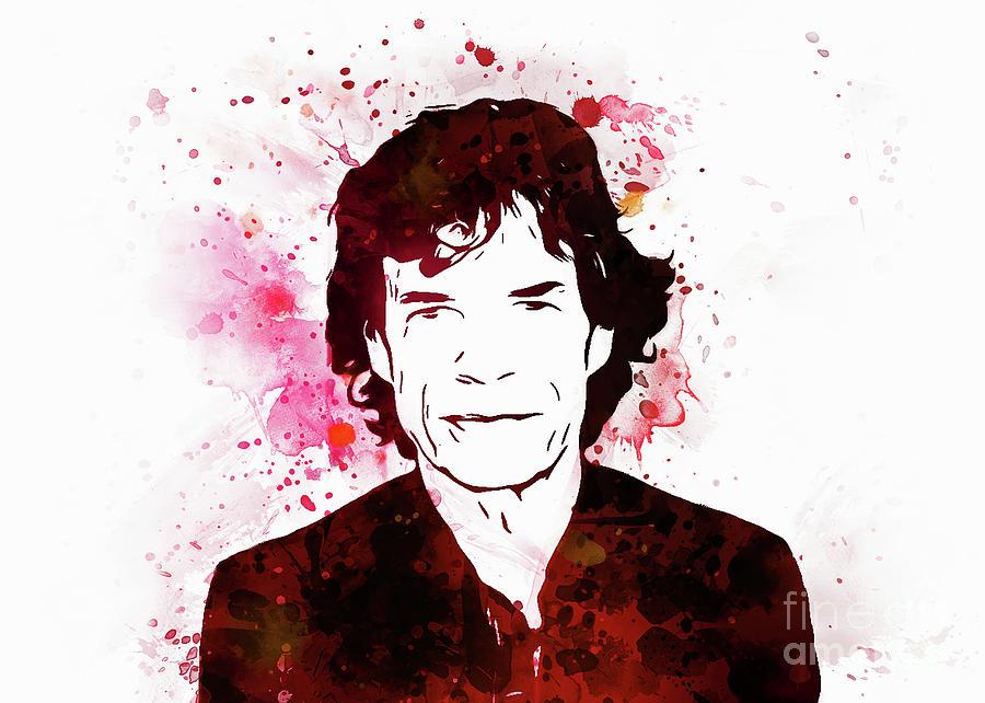 Mick Jagger by Ian Mitchell