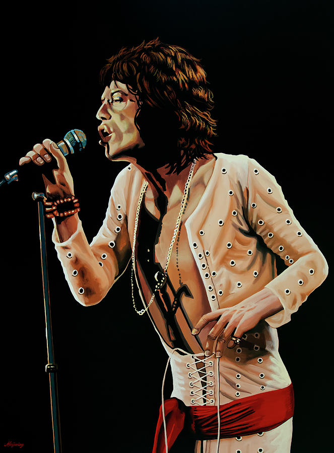 Mick Jagger Painting 4 by Paul Meijering