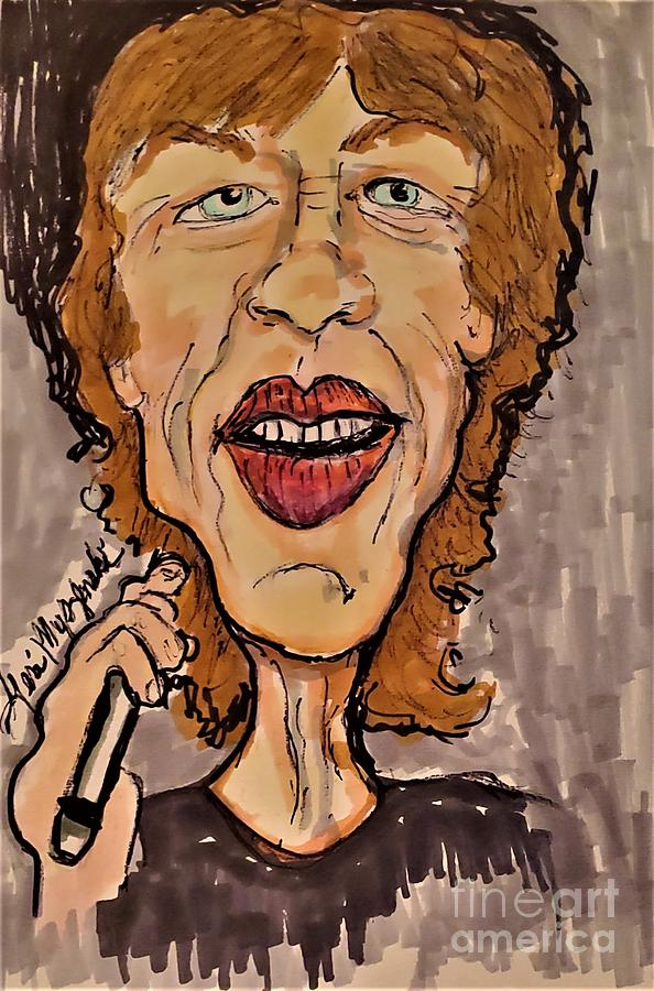 Mick Jagger The Rolling Stones Mixed Media