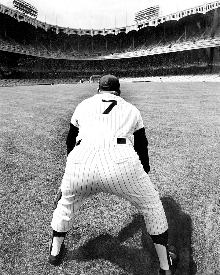 Mickey Mantle Works Out At Yankee Photograph by New York Daily News Archive