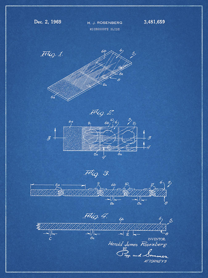 Microscope Slide Drawing - Microscope Slide Patent by Dan Sproul