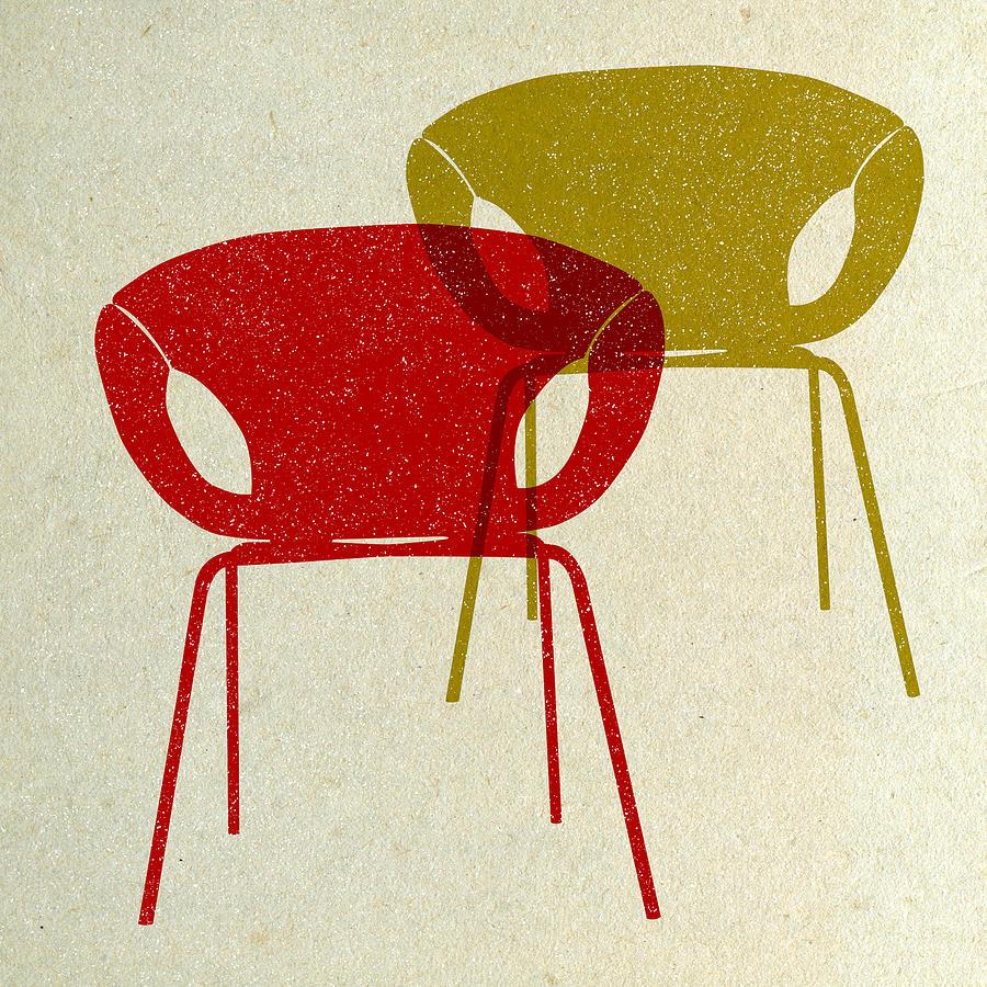 Mid Century Chairs Design II Photograph by Naxart Studio