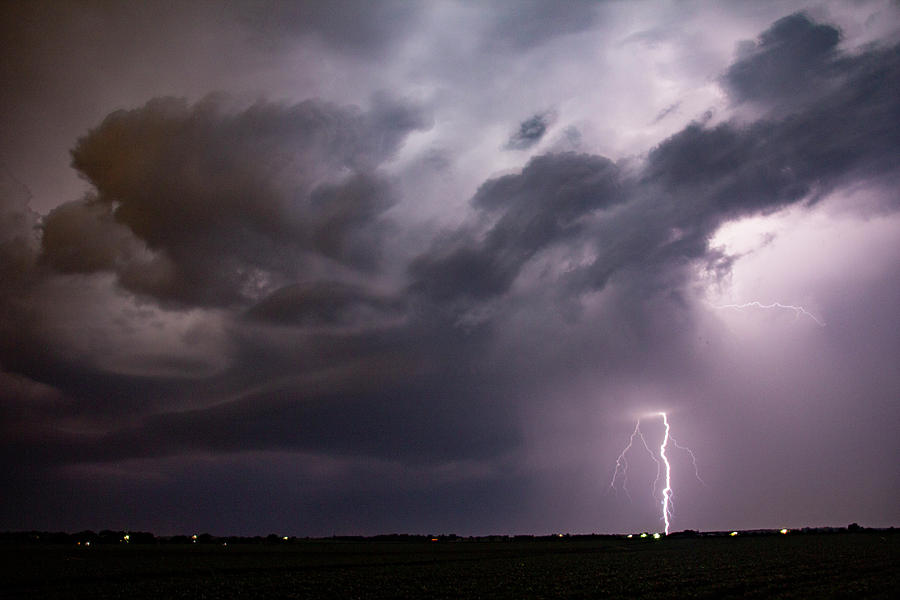 Mid July Nebraska Lightning 013 by Dale Kaminski