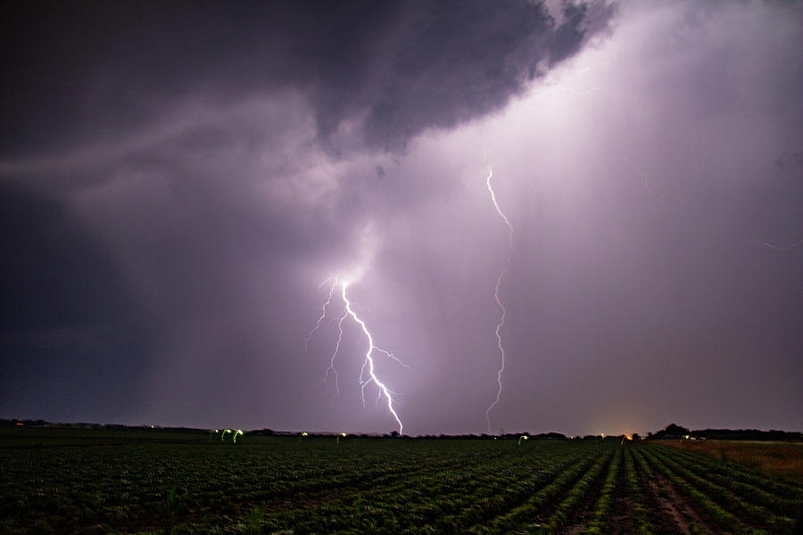 Mid July Nebraska Lightning 015 by Dale Kaminski