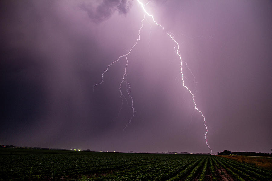 Mid July Nebraska Lightning 019 by Dale Kaminski