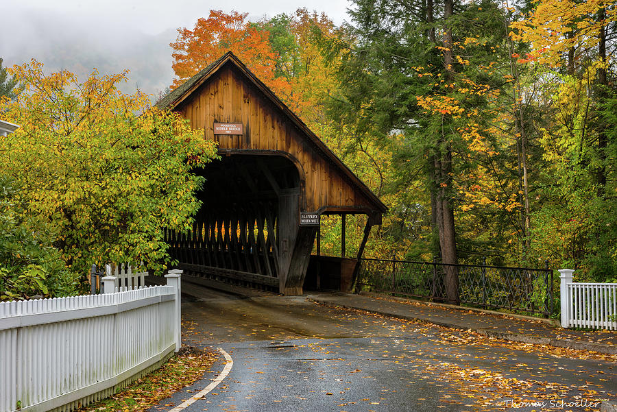 Middle Covered Bridge - Woodstock Vermont by T-S Fine Art Landscape Photography