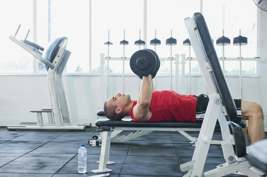 Middle Eastern Man Exercising In Health Photograph by Jacobs Stock Photography Ltd