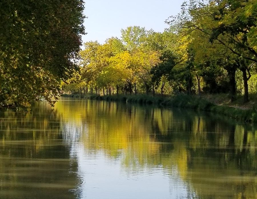 Early autumn on the Midi Canal  by Lettie Neuhauser-MacLachlan