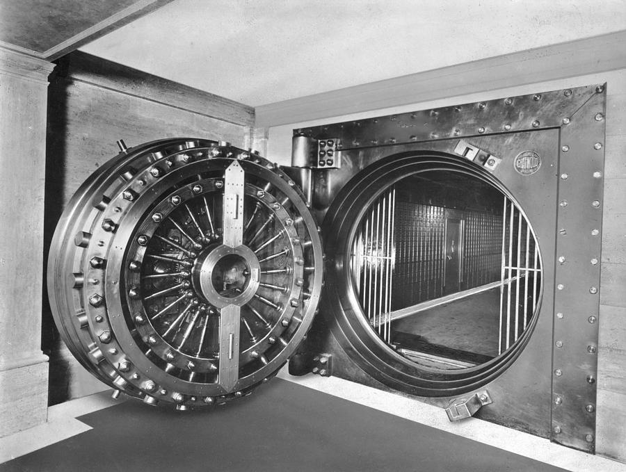 Midland Bank Safe Photograph by Evening Standard
