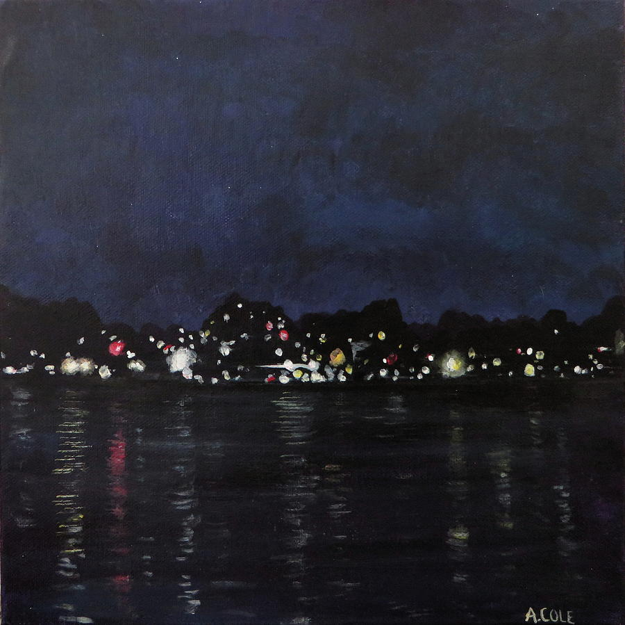 Midland Harbour at Night by Andrea Cole