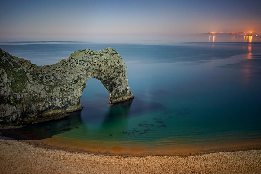 Midnight At Durdle Door Photograph