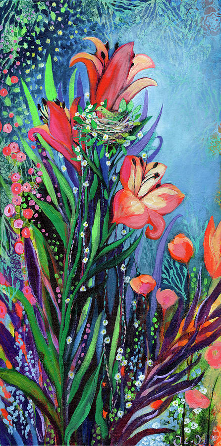 Floral Painting - Midnight Garden by Jennifer Lommers