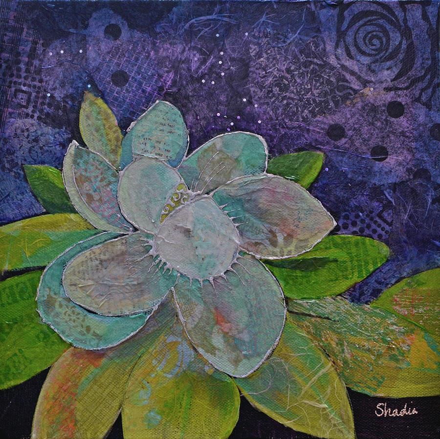 Midnight Magnolia I Painting