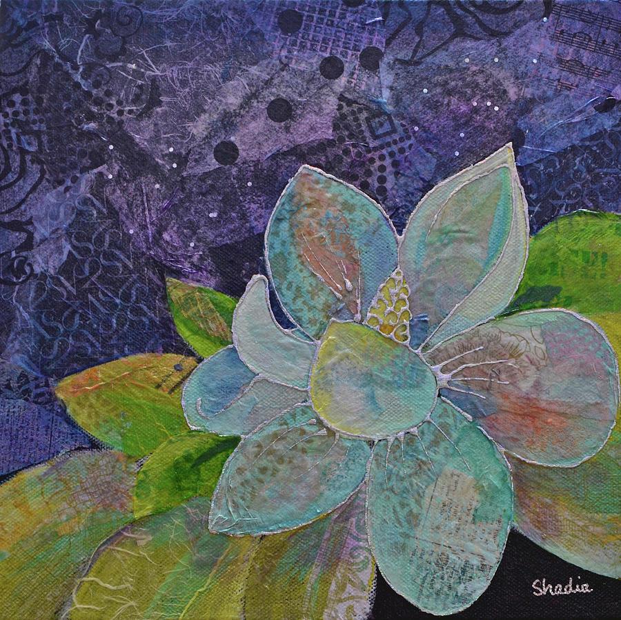 Magnolia Painting - Midnight Magnolia II by Shadia Derbyshire