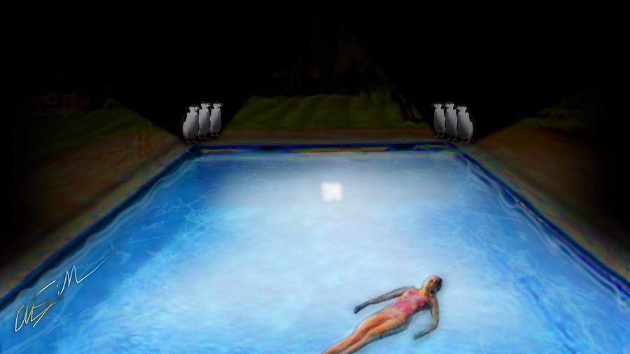 Midnight Swim Draws a Crowd by Chas Sinklier