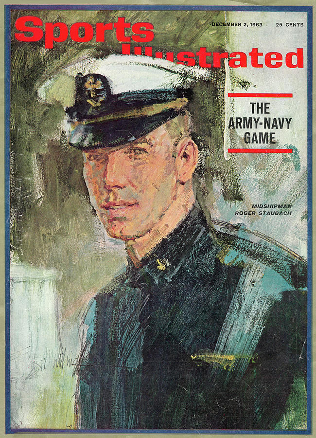 Midshipman Roger Staubach The Army-navy Game Sports Illustrated Cover Photograph by Sports Illustrated