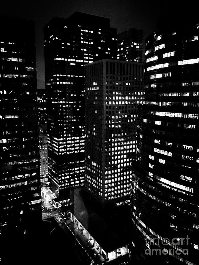 Midtown Manhattan, Nyc, Clear Winter Night Photograph by JMerrickMedia