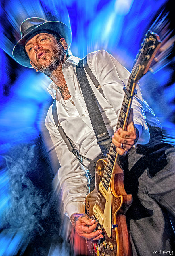 Mike Ness Mixed Media - Mike Ness by Mal Bray