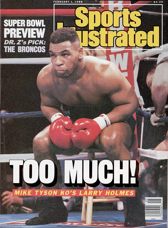 Mike Tyson, 1988 Wbcwbaibf Heavyweight Title Sports Illustrated Cover Photograph by Sports Illustrated