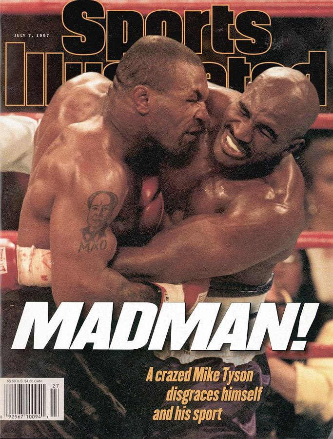 Mike Tyson Vs Evander Holyfield, 1997 Wba Heavyweight Title Sports Illustrated Cover Photograph by Sports Illustrated