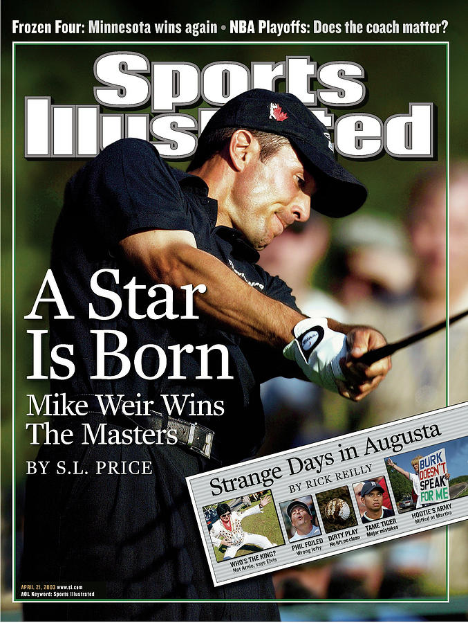 Mike Weir, 2003 Masters Sports Illustrated Cover Photograph by Sports Illustrated