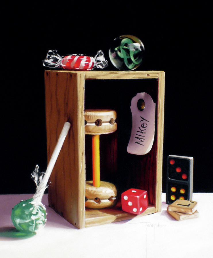 Vintage Toys Pastel - Mikeys Box by Dianna Ponting