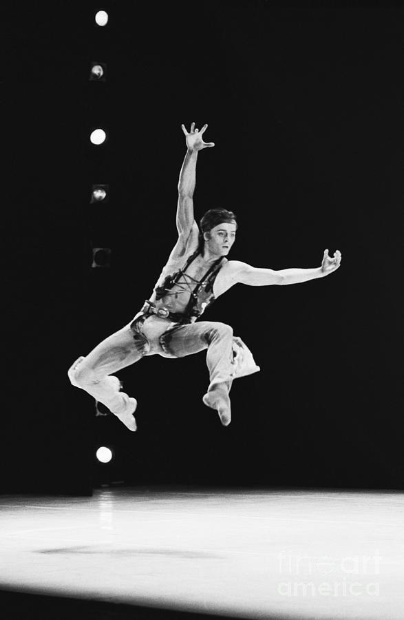 Mikhail Baryshnikov Dancing At Rehearsal Photograph by Bettmann