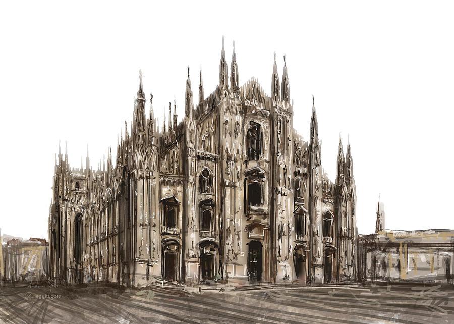 Milan Cathedral Paint1 Digital Art