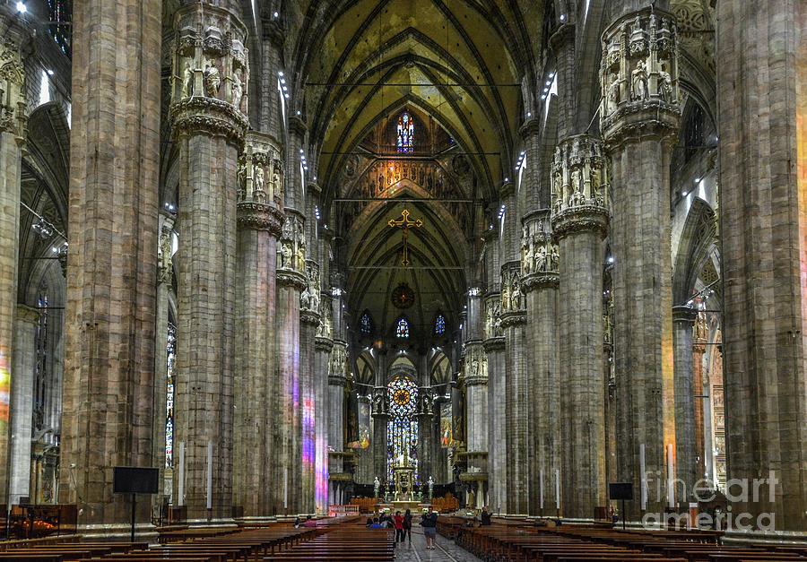 Milan Duomo Interior by David Meznarich