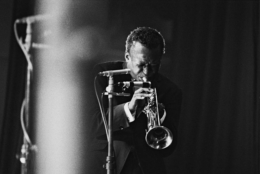 Miles Davis In Paris, France In 1964 - Photograph by Herve Gloaguen