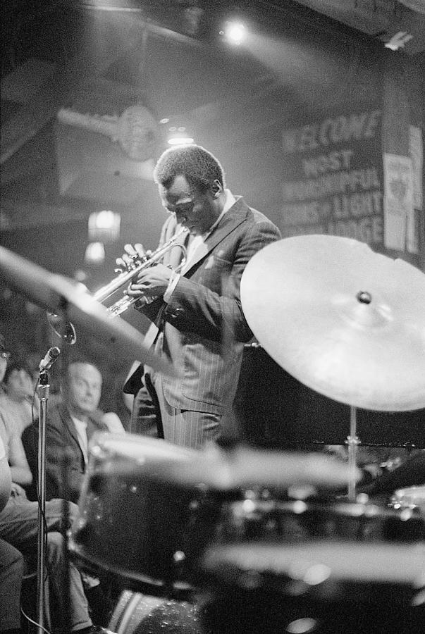 Concert Photograph - Miles Davis Performing In Nightclub by Bettmann
