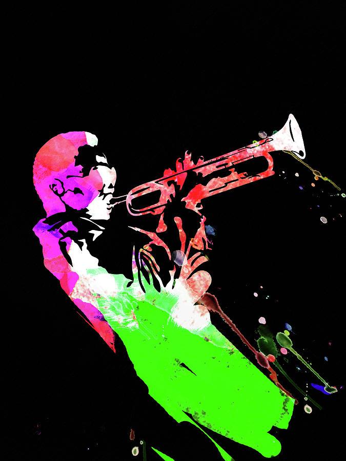 Miles Davis Mixed Media - Miles Watercolor II by Naxart Studio