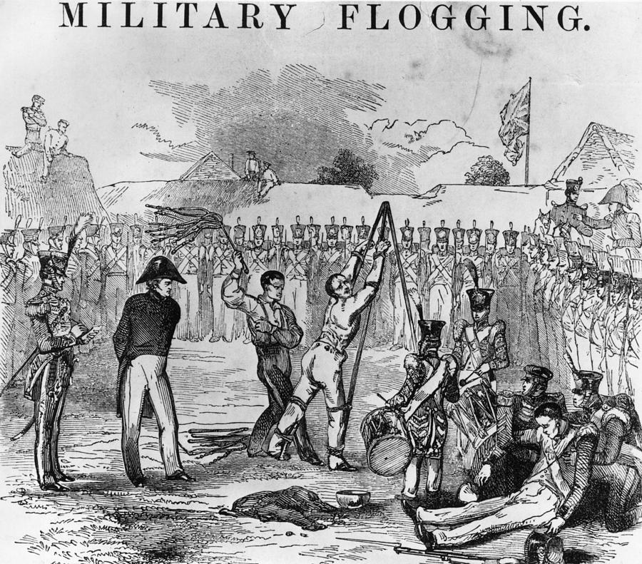 Military Flogging Digital Art by Hulton Archive