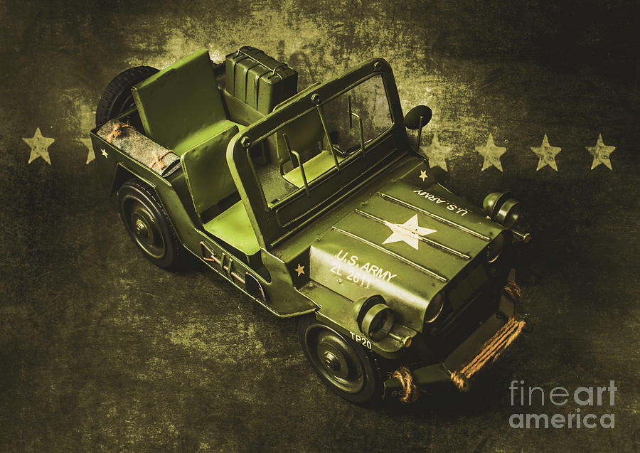 Jeep Photograph - Military Green by Jorgo Photography - Wall Art Gallery