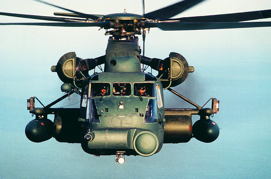 Military Helicopter In Flight Photograph by Frank Rossoto Stocktrek