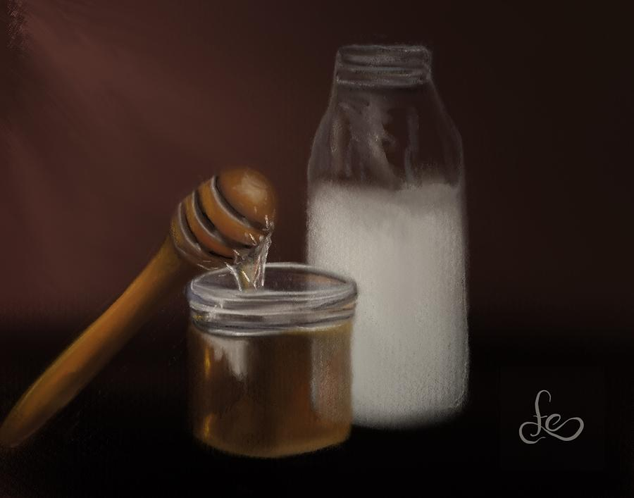 Milk and Honey  Painting by Fe Jones