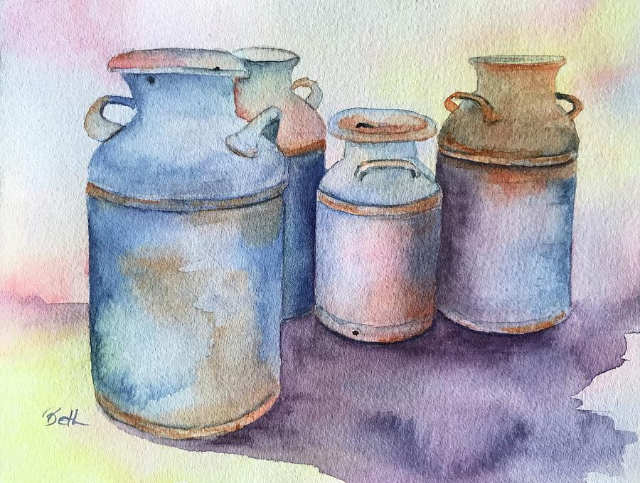 Milk cans by Beth Fontenot