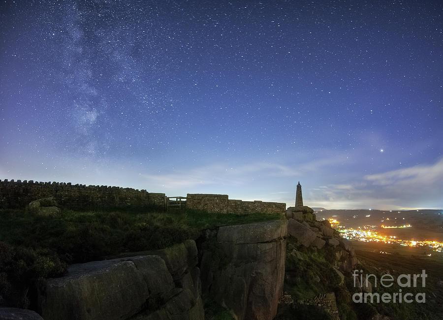 Milky Way Above Earl Crag Photograph