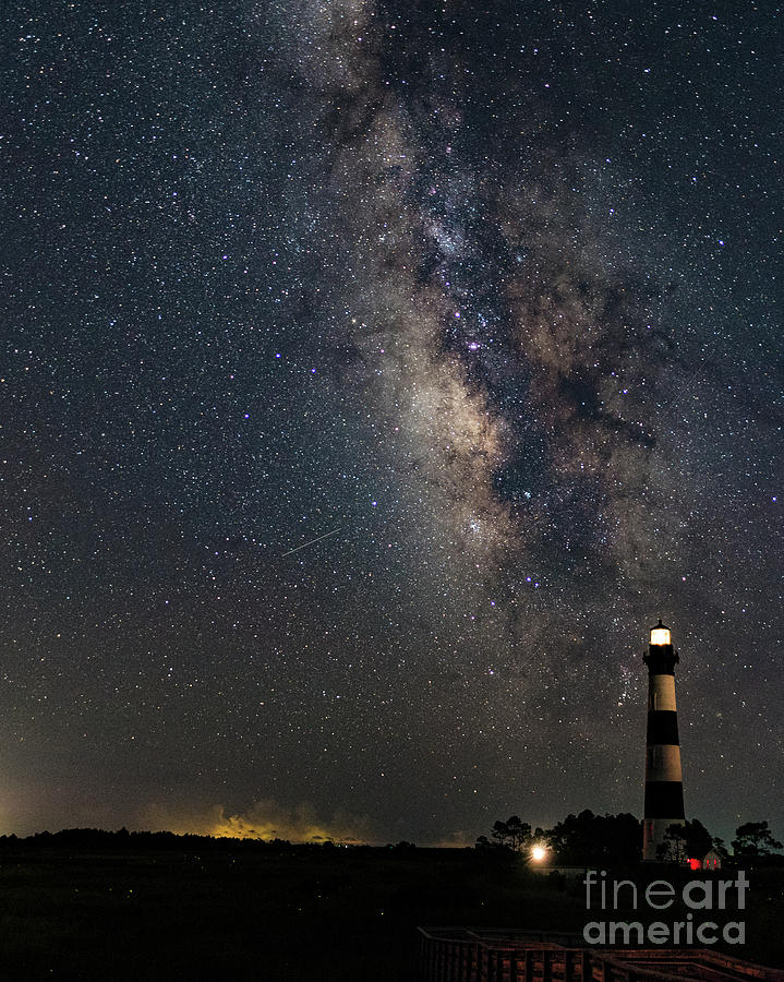 Milky Way and Bodie Lighthouse by Terry Rowe