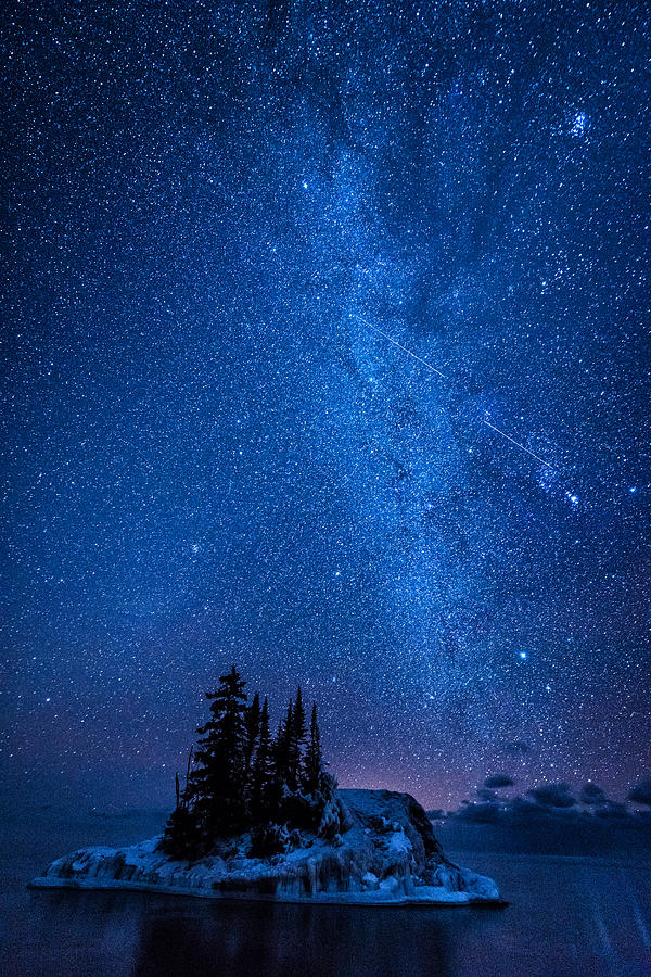 Milky Way And Island Photograph by Daniel Sigg