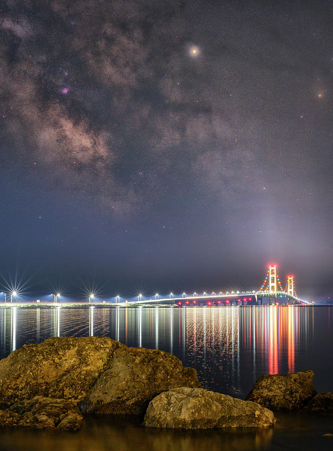 Milkyway Photograph - Milky Way And The Mighty Mac by Marybeth Kiczenski