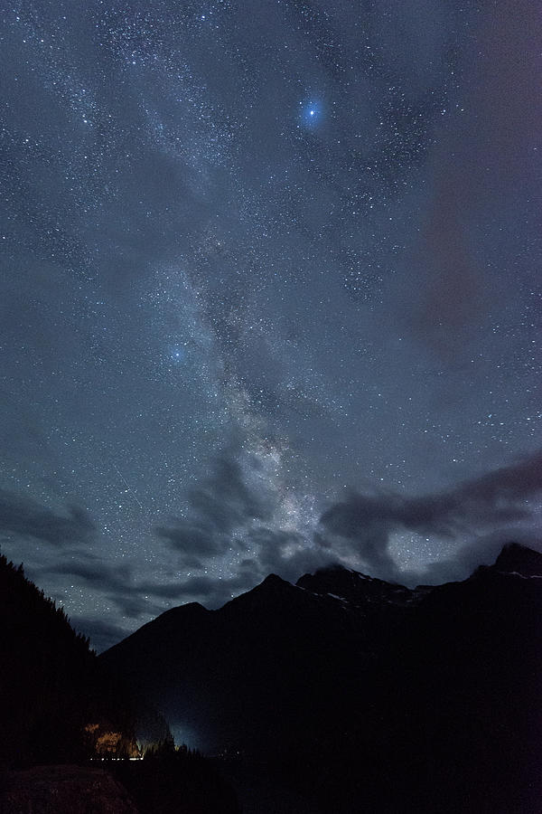 Milky Way at Diablo Lake, Washington by Michael Lee