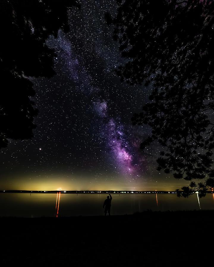 Milky Way at Norht Higgins Lake State Park by Joe Holley