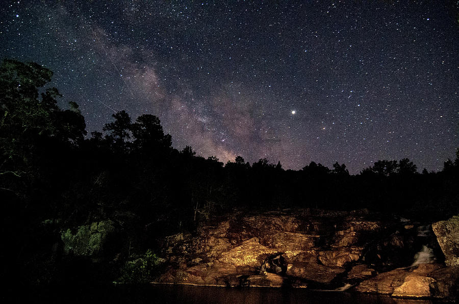 Milky Way at Rocky Falls by Steve Stuller