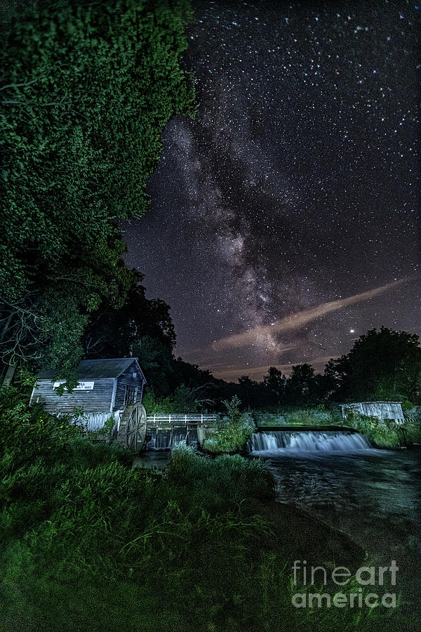 Milky Way at the Mill by Amfmgirl Photography